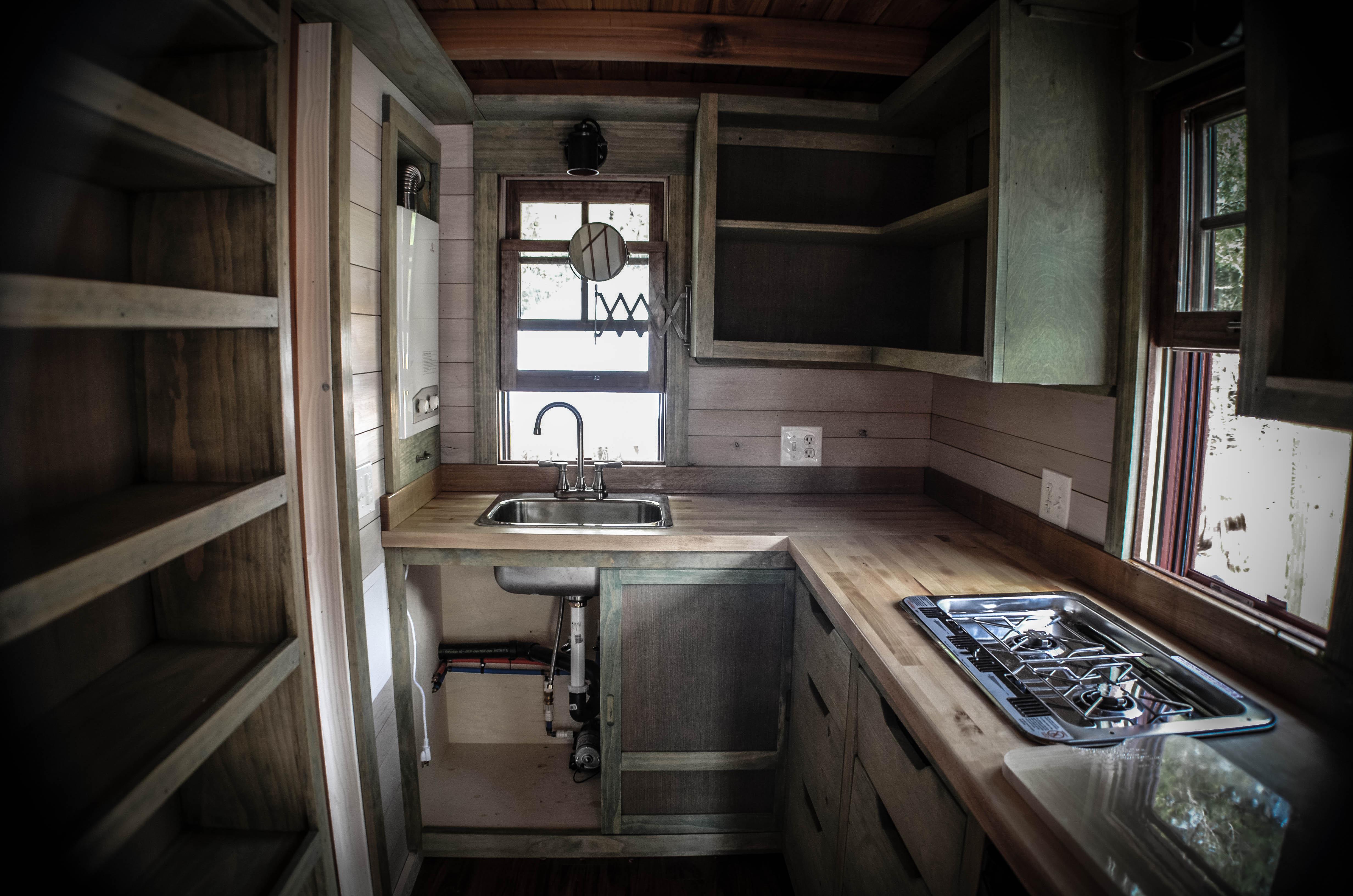 tiny house built by wishbone tiny homes kitchen small